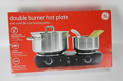 New in the Box Double Burner Hot Plate GE 1500 Watts Model 169214 WORKS