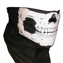 Skull Face Mask Neck Tube Scarf Snood Balaclava Airsoft Ski Biker BMX Bandana