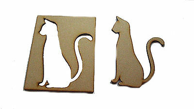 Sitting CAT Stencil & with Positive Blank 150mm High Embelishments #01