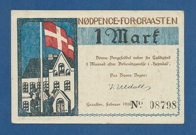 ALEMANIA // GERMANY -- NOTGELD -- GRAASTEN -- 1 MARK ( 1920 ) -- aUNC .