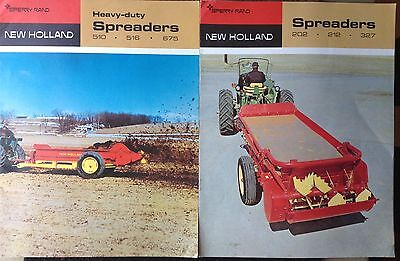 1970 Sperry Rand New Holland Spreaders Equipment Brochure Lot Of (2)