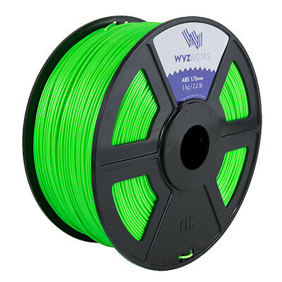 WYZwork 3D Printer Premium ABS Filament 1.75mm 1kg/2.2lb - Fluorescent Green
