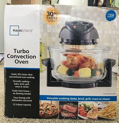 Mainstays Turbo Convenction Oven - versatile cooking - 12.5 Quart capacity