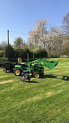 John Deere X595 With Loader And Cutting Deck Compact Tractor