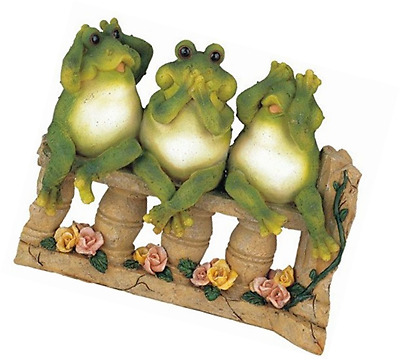 StealStreet SS-G-61046 3 Frogs on Bench Garden Decoration Collectible Figurine S