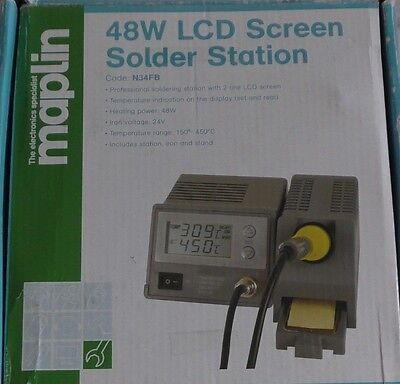 Professional 48W 2-Line LCD Display Soldering Iron Station Stand Temperature 24V