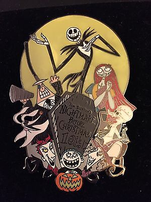 Disney Auctions Nightmare Before Christmas 10th Anniversary Pin - LE 100