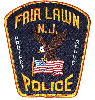 FAIR LAWN NEW JERSEY NJ Police Sheriff Patch EAGLE US FLAG LARGE ~