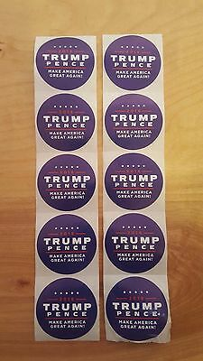 10X Trump Pence Make America Great Again 2016 Campaign Stickers