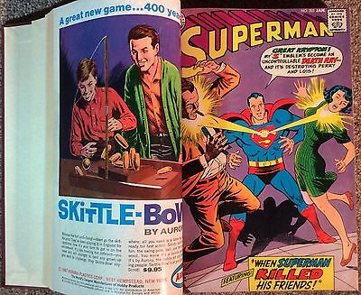 Superman #202 - #217 (1939 Series) 16 X Issues Professionally Bound In One Book.