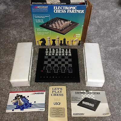 Collectable Rare Vintage Kasparov Saitek Electronic Chess Computer Partner