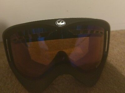 Dragon DX snowboard goggles Black Frame with Amber Lenses