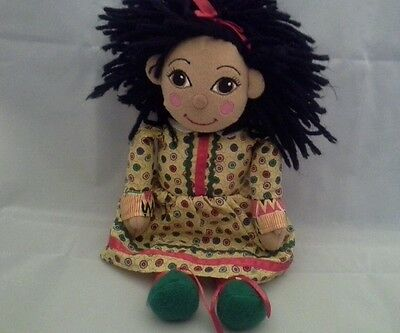 "Rosie & Jim Rosie Rag Doll 10"" Tall Lovely Condition - No Bag  Canal Boat Rosie"