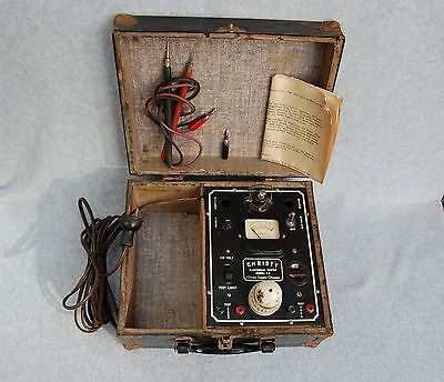 Christy Electronic Tester Model A2 Chicago Steampunk Not work Case Box Vintage