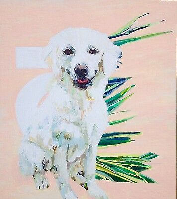 Pet Portrait Dog Painting Wall Art Artistic Custom Service
