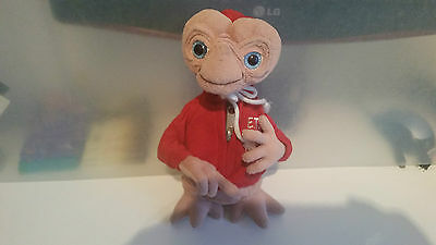 VINTAGE 1980's OFFICIAL UNIVERSAL STUDIOS E.T PLUSH SOFT TOY / DOLL RED HOODY