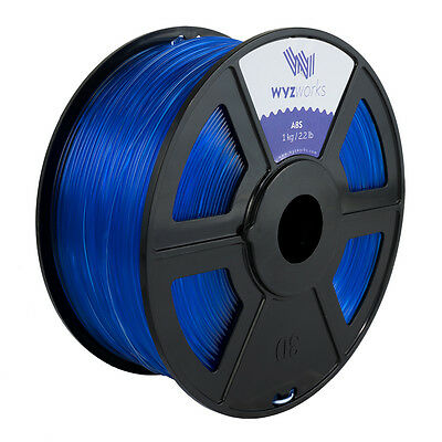 WYZwork 3D Printer Premium ABS Filament 3.0mm 1kg/2.2lb - Translucent Blue