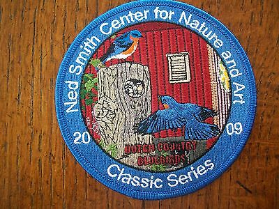 """Pa Pennsylvania Game Fish Commission  Ned Smith Bird Patch 4"""" 2009   Bluebirds"""