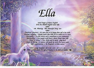 Personalised First Name Certificate - Unicorn - Birthday, Special Occasion