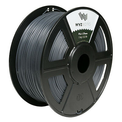 WYZwork 3D Printer Premium PLA Filament 1.75mm 1kg/2.2lb - Grey