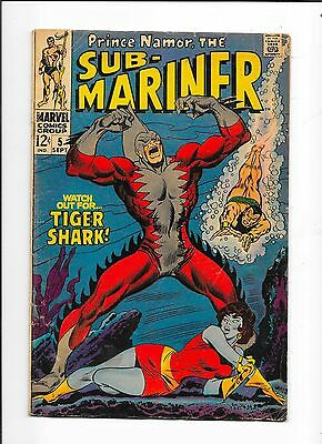 Sub-Mariner #5 1st App Of Tiger Shark Marvel Comics (1968)
