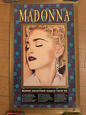 Madonna Blond Ambition Tour Lithograph Official Rare Mint 1990 Poster Display