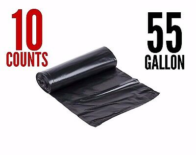 NP Easy Cleaning Strong Commercial Trash Bag Heavy Garbage Duty Yard (Black)