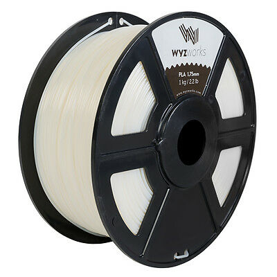 WYZwork 3D Printer Premium PLA Filament 1.75mm 1kg/2.2lb - Natural
