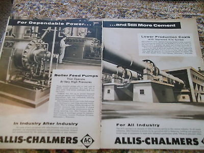 1956 Newsweek 2 pg Ad for  Allis-Chalmers serving the needs of industry