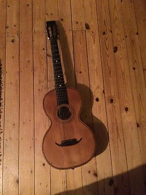Late 19th Century/ Early 20th Century Romantic small body (parlour) guitar