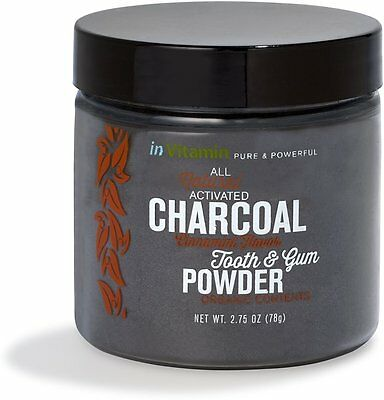 Activated Charcoal Tooth & Gum Powder, invitamin, 2.75 oz Cinnamint