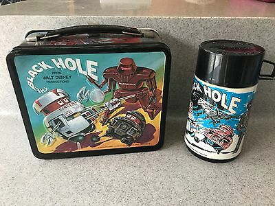 Vintage 1979 The Black Hole lunchbox with thermos