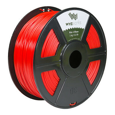 WYZwork 3D Printer Premium PLA Filament 1.75mm 1kg/2.2lb - Red