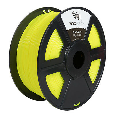 WYZwork 3D Printer Premium PLA Filament 1.75mm 1kg/2.2lb - Translucent Yellow