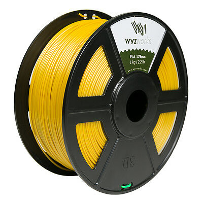WYZwork 3D Printer Premium PLA Filament 1.75mm 1kg/2.2lb - Gold
