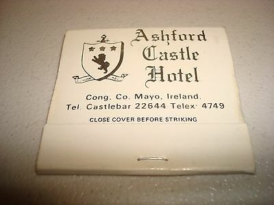 Rare Vintage Foreign Matches Ashford Castle Hotel Cong Co.Mayo Ireland Original!