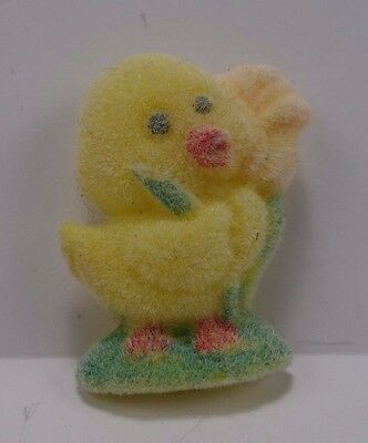 Fuzzy Flocked Yellow Easter Chick Easter Pin   6