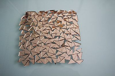 Mosaic Triangular Rose gold Mirror Tiles Approx 1.2 cm,  2 mm thick, 100 pcs