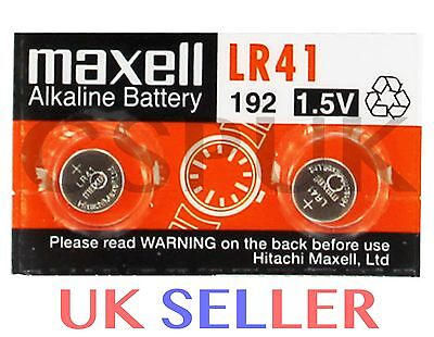 2 x GENUINE MAXELL AG3  L736 LR41 LR736 1.5V  BUTTON CELL ALKALINE BATTERIES