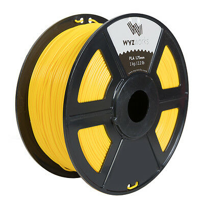 WYZwork 3D Printer Premium PLA Filament 1.75mm 1kg/2.2lb - Yellow