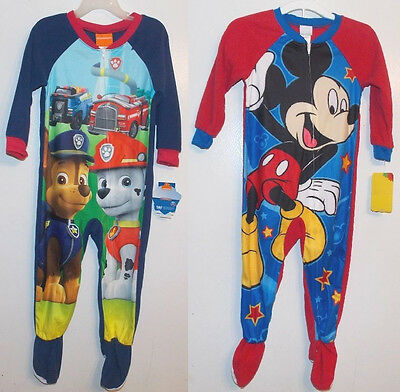 fb7531545 MICKEY MOUSE   Paw Patrol Toddler Boys Blanket Sleepers PJs Sizes 3T ...