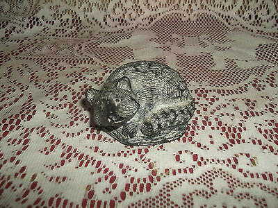 3 x 1 1/2 in -  Raccoon Sculpture- A Wolf Original - Hand Made In Canada