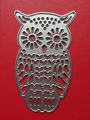 NEW• Cute OWL Bird DIE For Use With Cuttlebug Or Sizzix