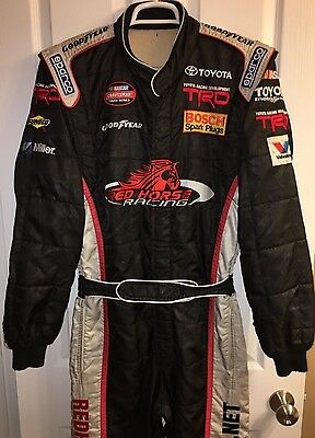 LG 35W x 33L Nascar 1PC Fire Suit SFI Nomex RED HORSE RACING CREW DRIVER Sparco