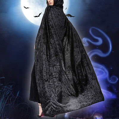 Halloween Hooded Velvet Cloak Cape Witch Dress Cosplay Gifts
