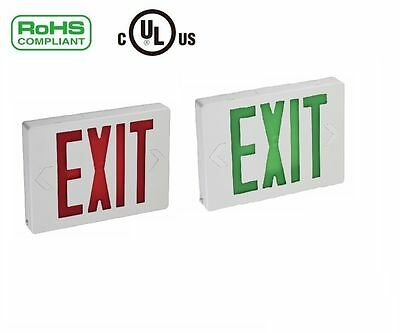 Universal Red LED Emergency Exit Light Sign - Modern Battery Backup Green Letter