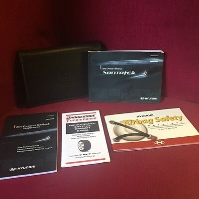 2010 Hyundai Santa Fe Owners Manual set with warranty book and case