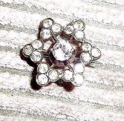 Antique Georgian Silver & French Paste Star Pin