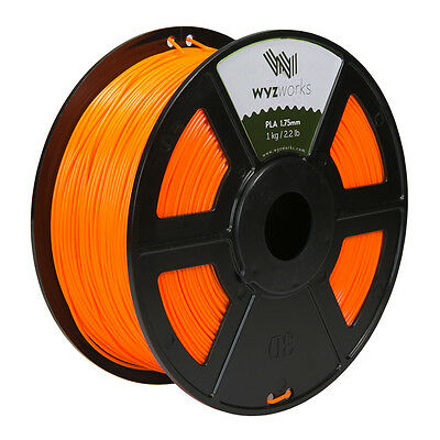 WYZwork 3D Printer Premium PLA Filament 1.75mm 1kg/2.2lb - Orange