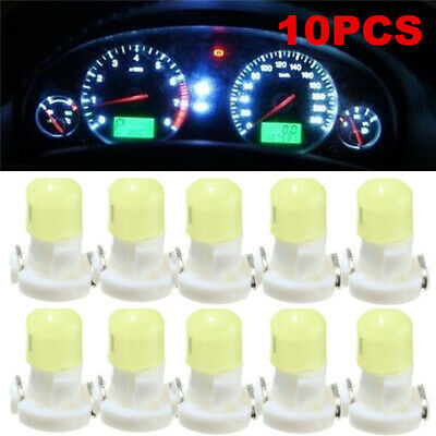 10x T3 Neo Wedge LED Bulb Cluster Instrument Dash Climate Base Lamp Light White